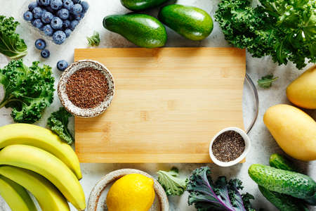 Ingredients for fruit smoothies.