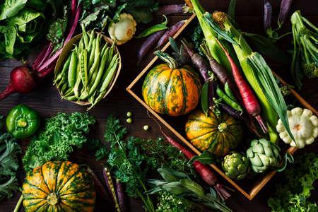 Fresh organic seasonal vegetables Stock fotó