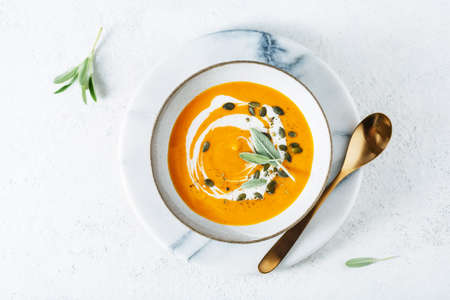 Carrot and ginger cream soup
