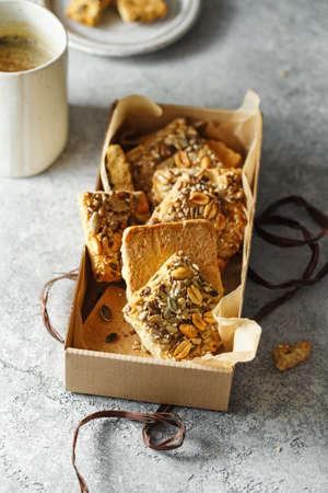 Homemade whole-grain cookies