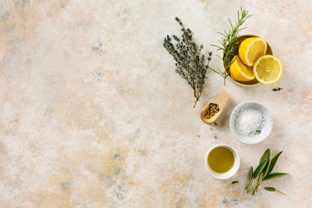Spices and herbs for Mediterranean cuisine. Stock fotó - 156528571