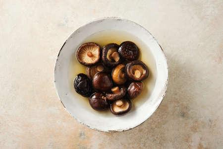 Boiled shiitake mushrooms Stock fotó - 156488182