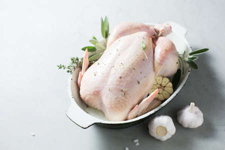 Raw chicken with spices Stock fotó - 156786155