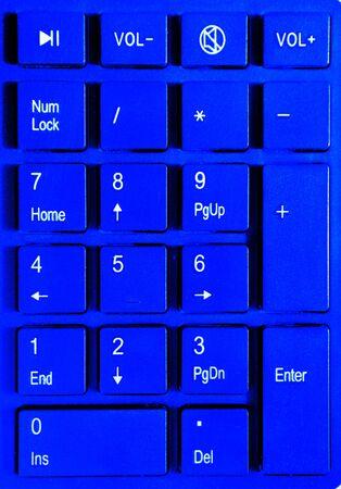Blue buttons on a blue keypad pop art Stock Photo