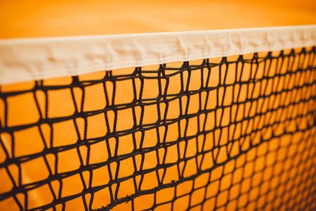 tennis court, net tennis, yellow tennis court clay