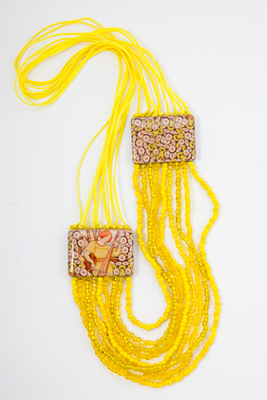 Womens jewelry, ornaments on a white background