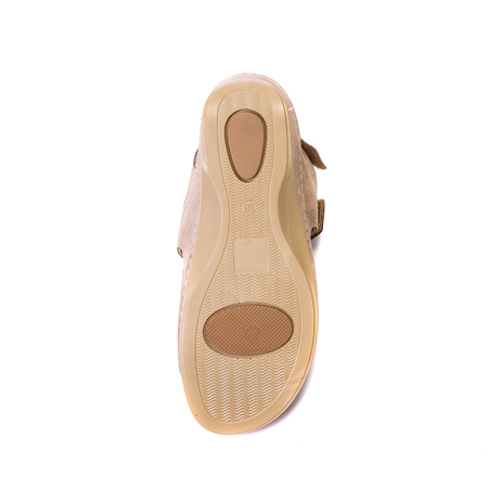 Orthopedic footwear for people with pronation of the foot, top view on the sole Stock Photo