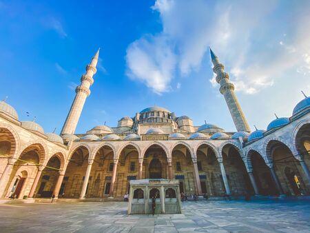 Suleymaniye Mosque. Suleymaniye Camii. Minaret, marmara. Sulaymaniye Mosque Exterior Turkey October 29, 2019, Istanbul. Suleymaniye Camii The most beautiful mosque in Istanbul. Editorial