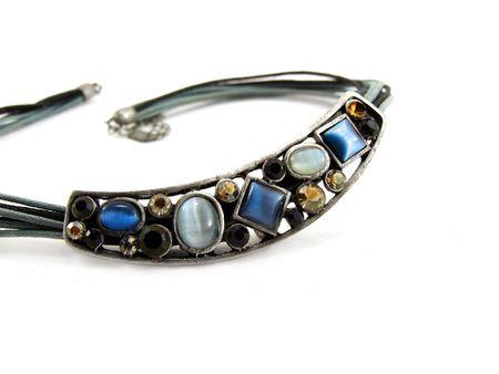 necklace with semiprecious stones photo
