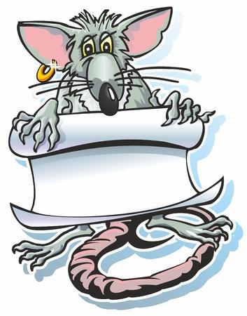 rodent rat holding a scroll manuscript monuskript paper roll