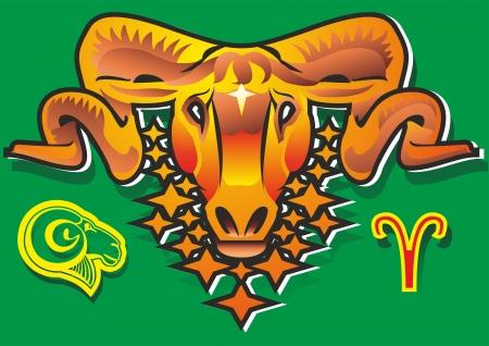 hocico: carnero oveja argali vell�n estrellas s�mbolo de los cuernos del zodiaco signo nariz hocico verde