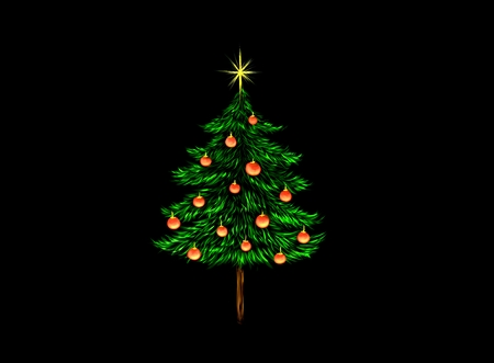fur tree ornament: christmas tree