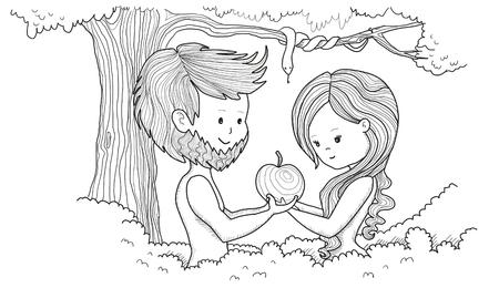 adam and eve: Adam and Eve Stock Photo
