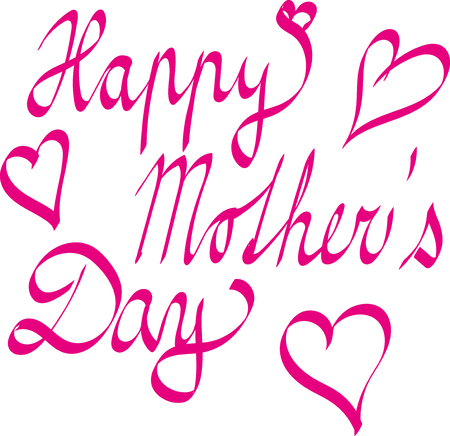happy mother day hand written