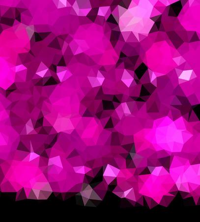 Polygonal background pink on black