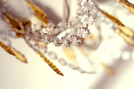Crystal old chandelier detail Stock Photo