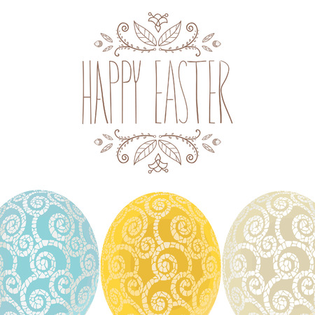 Easter holiday card. Easter invitation, vector design.