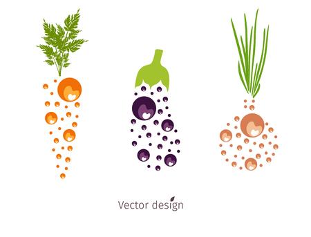 Vegetable icon design.