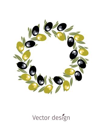 Olive crowns vector illustration design