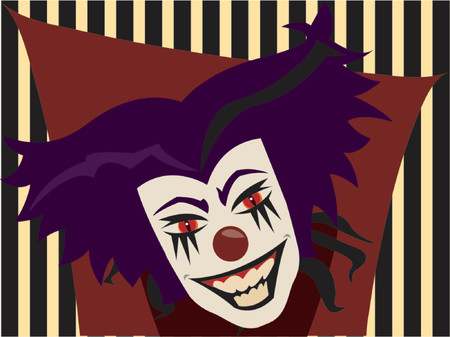 crazy face: lets face it... we ALL know clowns are PURE EVIL