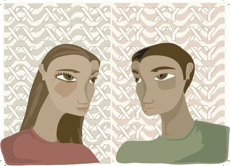 möglicherweise: Sister & Brother - vielleicht Zwillinge? Aus dem gleichen Gen-Pool ... Illustration