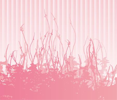 feminine background: Plantlife femenina de fondo y rayas - en tonos suaves de rosa