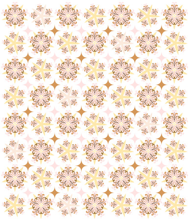 A soft, romantic pattern of stars, diamonds and flowery shapes - a beautiful background for Valentine, anniversary or wedding designs