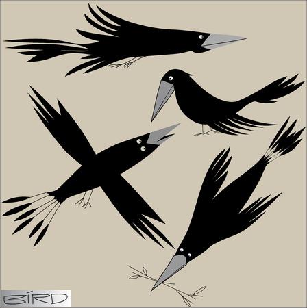 Vektor stilisiertes Bild der Vögel.