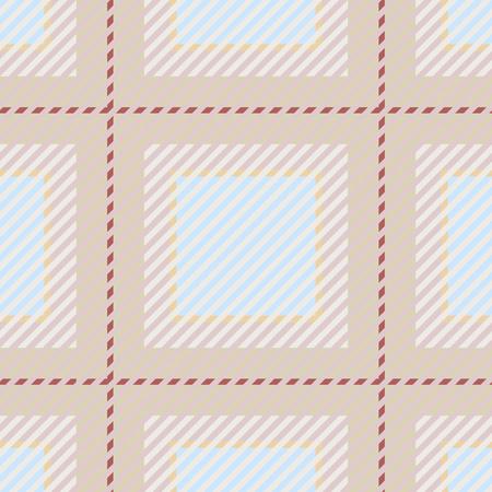 Vector grafische textuur van een de stoffenillustratie van de plaidgeruite schots wollen stof. Stock Illustratie
