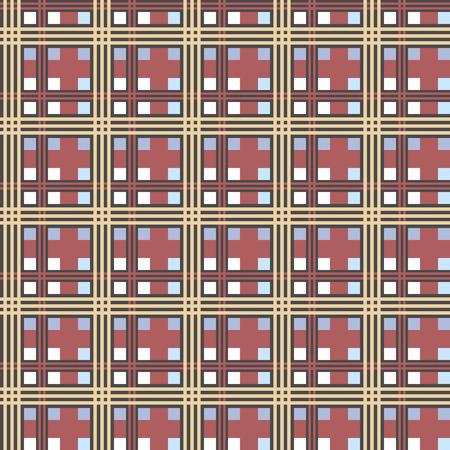 Vector grafische naadloze textuur van tartan stof. Stock Illustratie