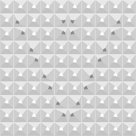 Seamless gray geometric pattern with V-shaped design