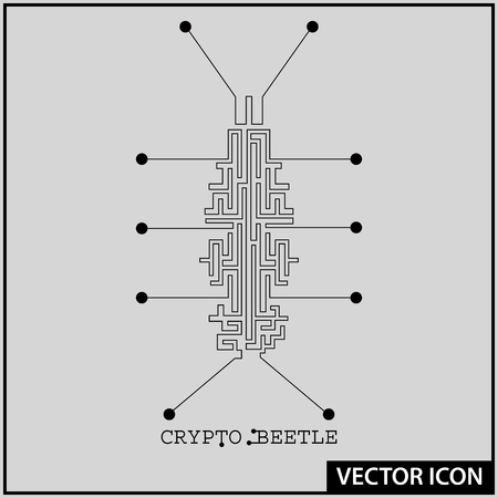 vector icon of crypto technology Banque d'images - 100719116
