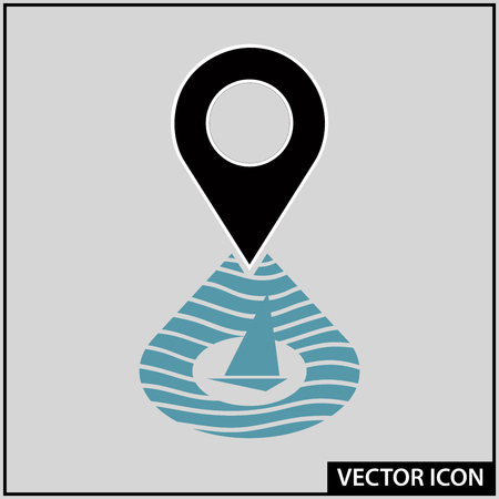 vector icon of navigation and location