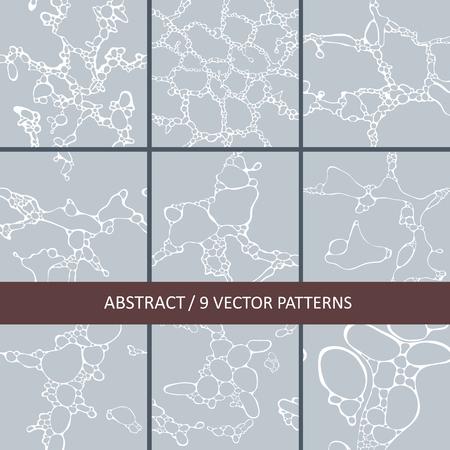 set of seamless texture of a molecular spot Ilustração