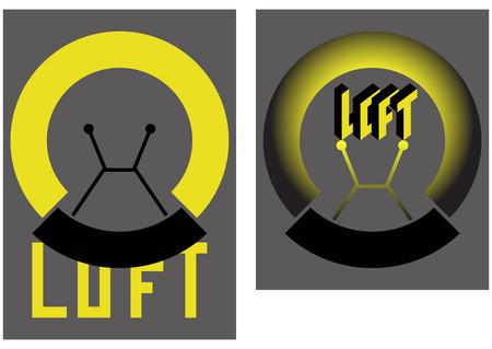 loft style text vector icon Ilustração
