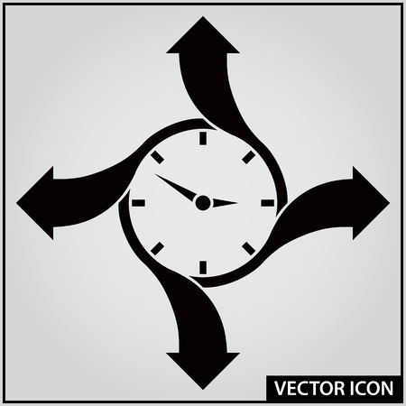 time moving forward vector icon