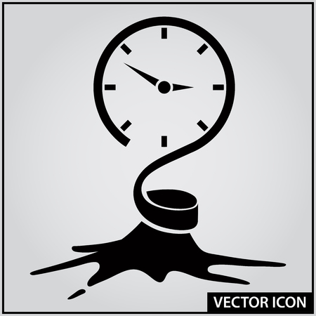 time to rush to do business vector icon
