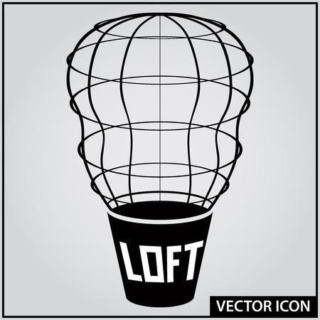 loft style interior design vector icon