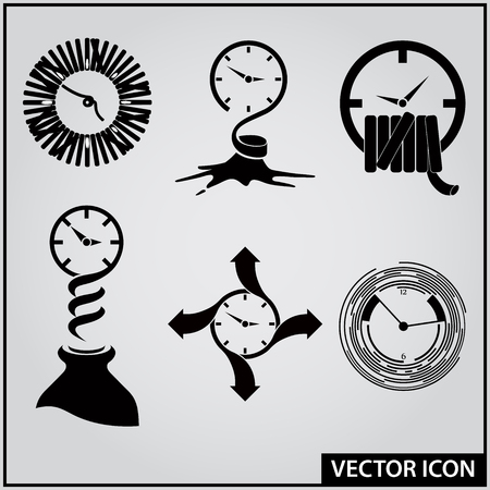 set of vector graphic icons of sport and leisure time Ilustração