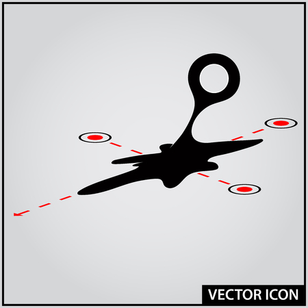 undefined location vector icon Ilustração