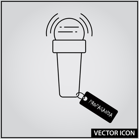 Interview Microphone Vector Icon, Truth and Lie Information Tool Ilustração