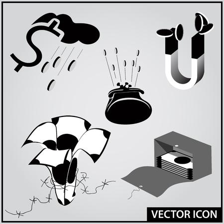 financial instruments icons Ilustração