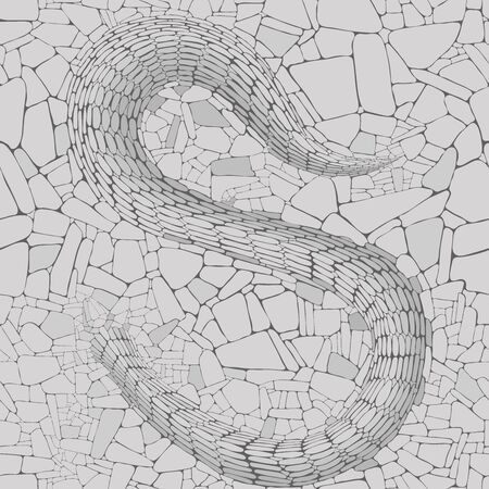 vector seamless texture of a stone surface with a snake relief