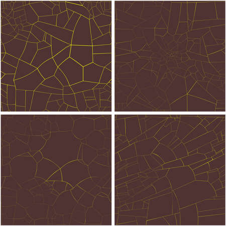 set of vector decorative textures of hot volcanic lava 向量圖像