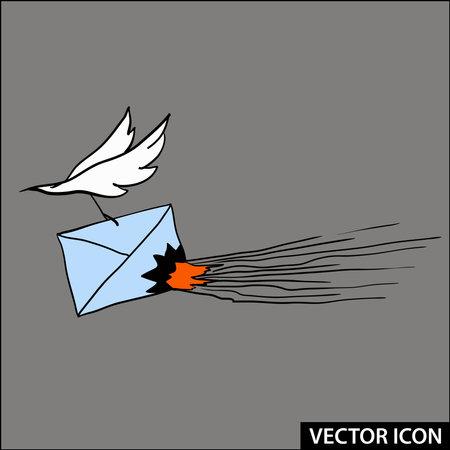 vector icon burning news sensational message