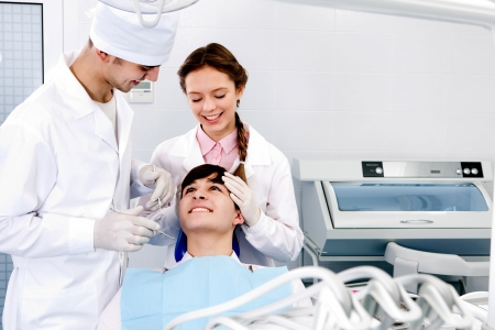 medical care a patient with a toothache Stock Photo - 14236971