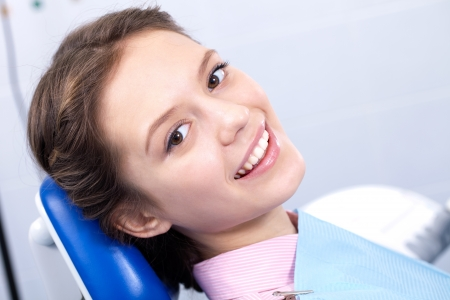 oral surgery: medical care a patient with a toothache Stock Photo
