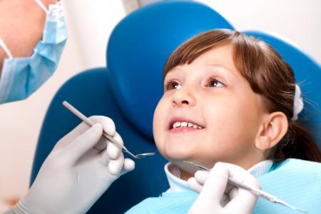 Modern dental equipment cabinet happy patient