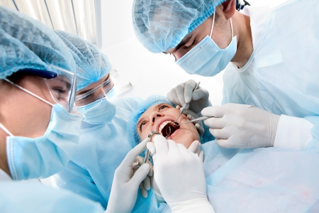 oral surgery: surgery in the oral cavity tools Stock Photo