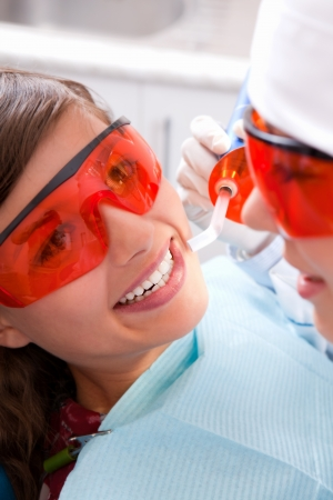 engaging: Painless dentistry is  young girl